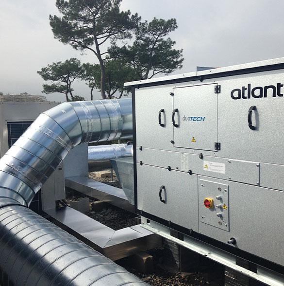 AYPHASSORHO nos métiers Centrale de traitement d'air, double flux avec récupération d'énergie
